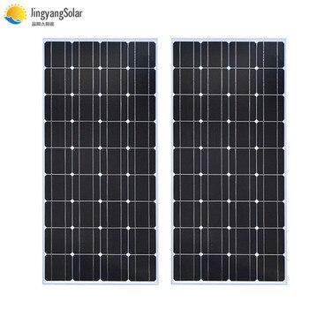 Glass Solar panel 200W equal 2pcs of 100W Monocrystalline solar cell 12V solar charger mono solar panel RV Home Boat 300W 400W 1
