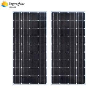 Image 1 - De vidrio de panel Solar 100W 200W 300W 400W rígido Panel Solar monocristalino de la célula solar 12V 12V cargador de batería solar casa techo barco