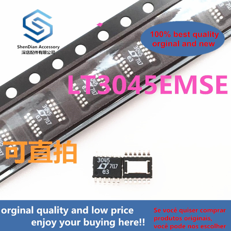 1pcs 100% Orginal New  LT3045EMSE LT3045IMSE LT3045 MSOP Real Photo
