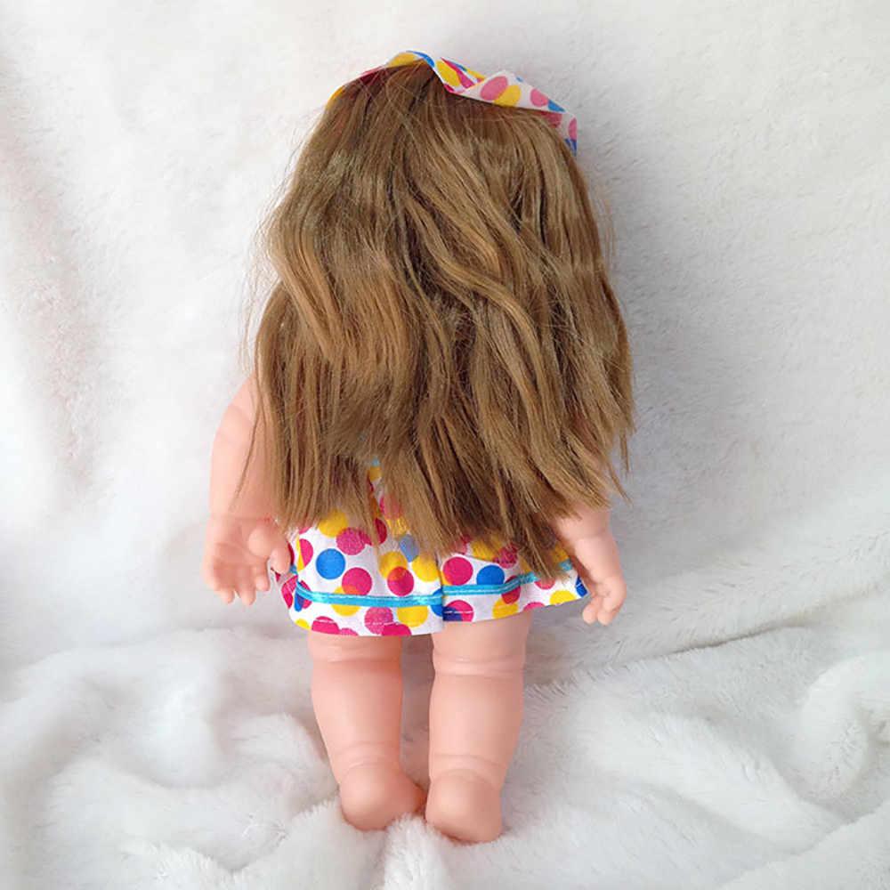 12 дюймов, игрушки для детей, милые куклы-Реборн, Силиконовые Мягкие реалистичные куклы принцессы для девочек, детские куклы, подарки на день рождения и Рождество