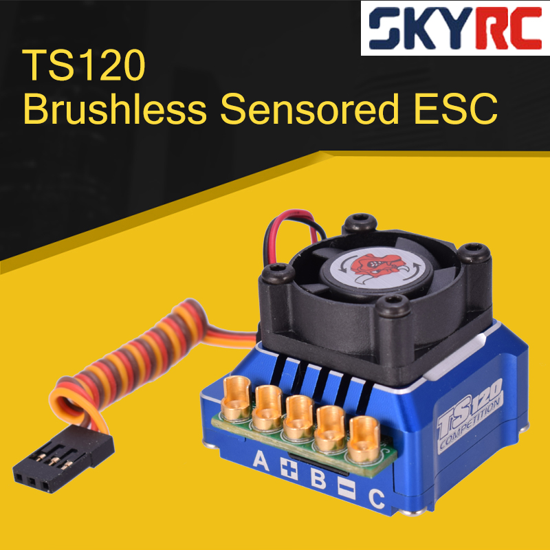 SKYRC TORO TS120 Brushless Sensored ESC Support Sensorless Sensor Brushless <font><b>Motor</b></font> For <font><b>1</b></font>:<font><b>10</b></font> <font><b>1</b></font>:12 RC Car Blue/Black/Gold image