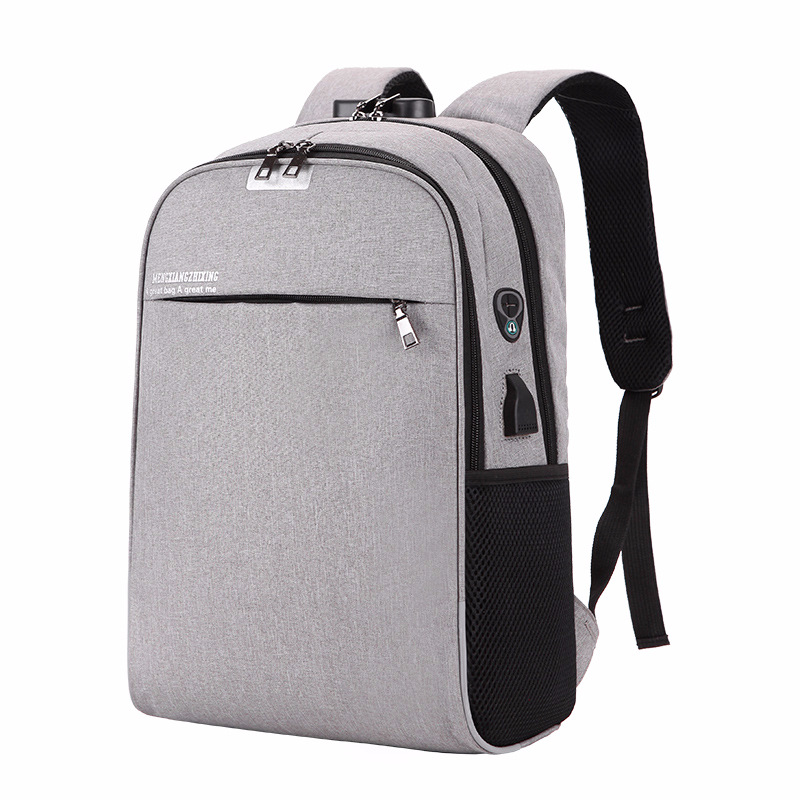 USB Charging College Backpack Backpack Laptop Bag Students' Leisure Outdoor With Headphones