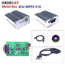 A + qualidade smps mpps v16 edc16 caixa de metal ecu chip tuning ferramenta mpps remap chip tuning pode pisca scanner diagnóstico do carro