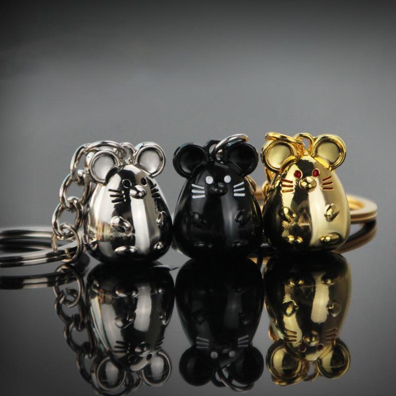 Fashion New Year Rat Mouse Creative Three-dimensional Mascot Keychain Car Accessories Key Pendant Men Women Couple Gift Keychain