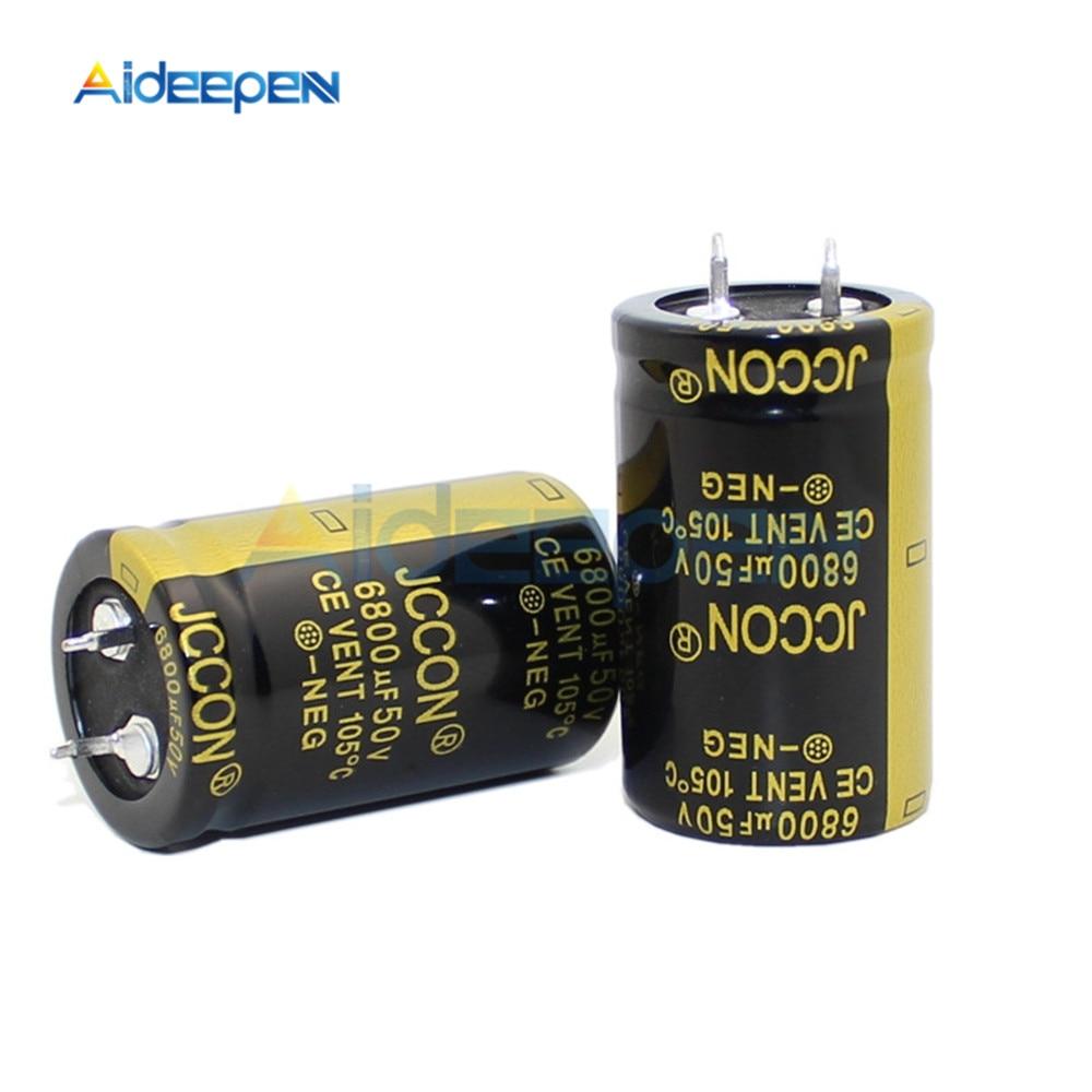 50V 6800UF Aluminum Electrolytic Capacitor Size 25*40MM 6800μF 50V 25x40mm