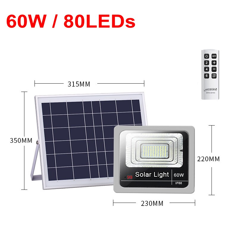 4pcs 40W <font><b>60W</b></font> 80W 100W 120W Flood Light <font><b>Led</b></font> Outdoor Lighting Street Lamp Waterproof Garden Landscape <font><b>Floodlight</b></font> Solar Powered image