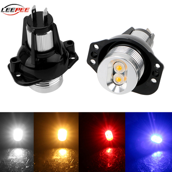 LEEPEE Auto Accessories LED Bulbs Car Angel Eyes Fog Lamp Marker Light Decorative Lights For BMW E90 E91 DC 12V Error Free image