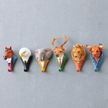 Креативные животные милые вешалки для одежды Держатели для крючков вешалка для пальто крышка декор комнаты показ стены сумка ключи клейкий держатель всасывания