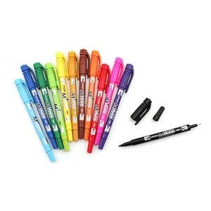 Image 4 - 12ชิ้น/เซ็ตPilot SCA TM CD Marker Twin Marker 2เคล็ดลับถาวรที่มีสีสันขายปลีกDouble Headผิวมันปากกาโปสเตอร์Graffitiเครื่องเขียน