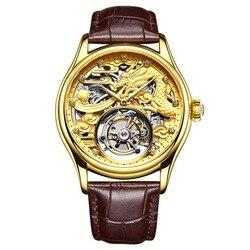 ORKINA nowe oryginalny Tourbillon zegarek mężczyźni top marka luksusowe wodoodporna skeleton Sapphire mechaniczne Tourbillon relogio masculino|Zegarki mechaniczne|   -
