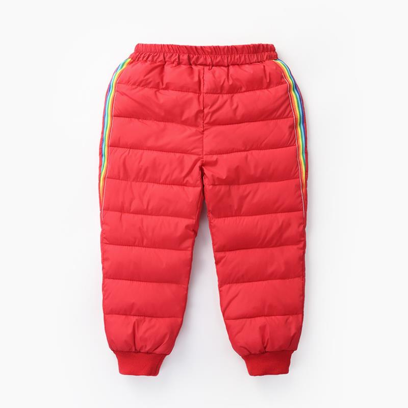 2020 New Boys and girls down cotton trousers 2-6 years old thick warm pants, baby winter trousers children's thick Sweatpants 6