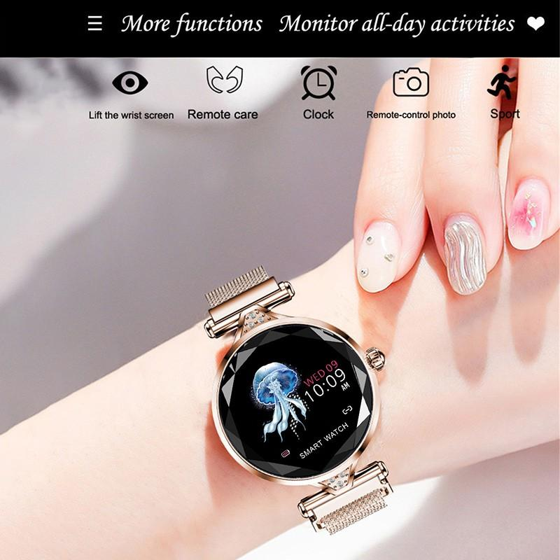 Ha8fd0c6a9ede4910af9994daa9a5c744t 2021 Fashion Smart Watch Women IP68 waterproof Multi-sports modes Pedometer Heart Rate smartwatch Fitness Bracelet for Lady Gift