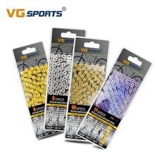 VG Sports Cadena de bicicleta color oro y plata, componente para mountain bikes y bicicletas de montaña, 8, 9, 10 y 11 velocidades, cadenas para MTB, 116L EL SL medio/completamente hueco