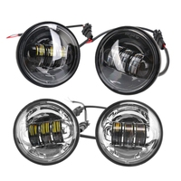 4x 4.5 Inch 4 1/2 Inch Led Fog Light Passing Projector Spot Lamp for Motorcycles, Compatible for Har ley Davidson 4.5 Inch Roun