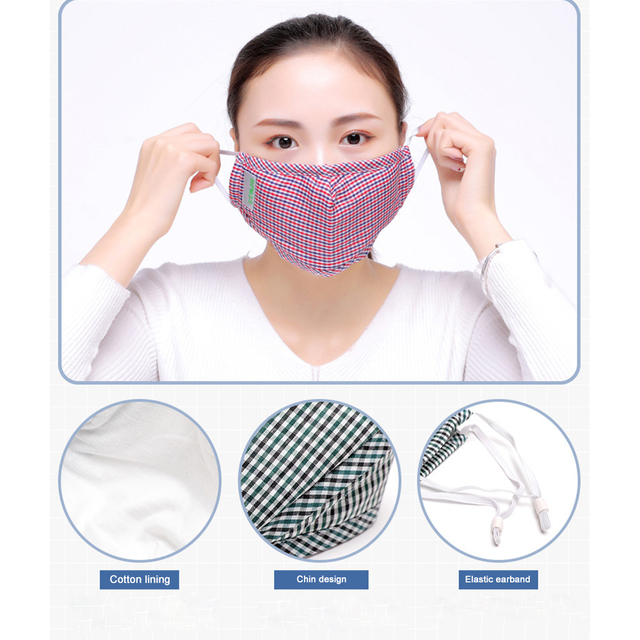 Cotton Masks Anti Pollution PM2.5 Mask Dust Reusable Mouth Mask With Filter Cloth Face Mask Cotton Washable Korean Fashion mask 4