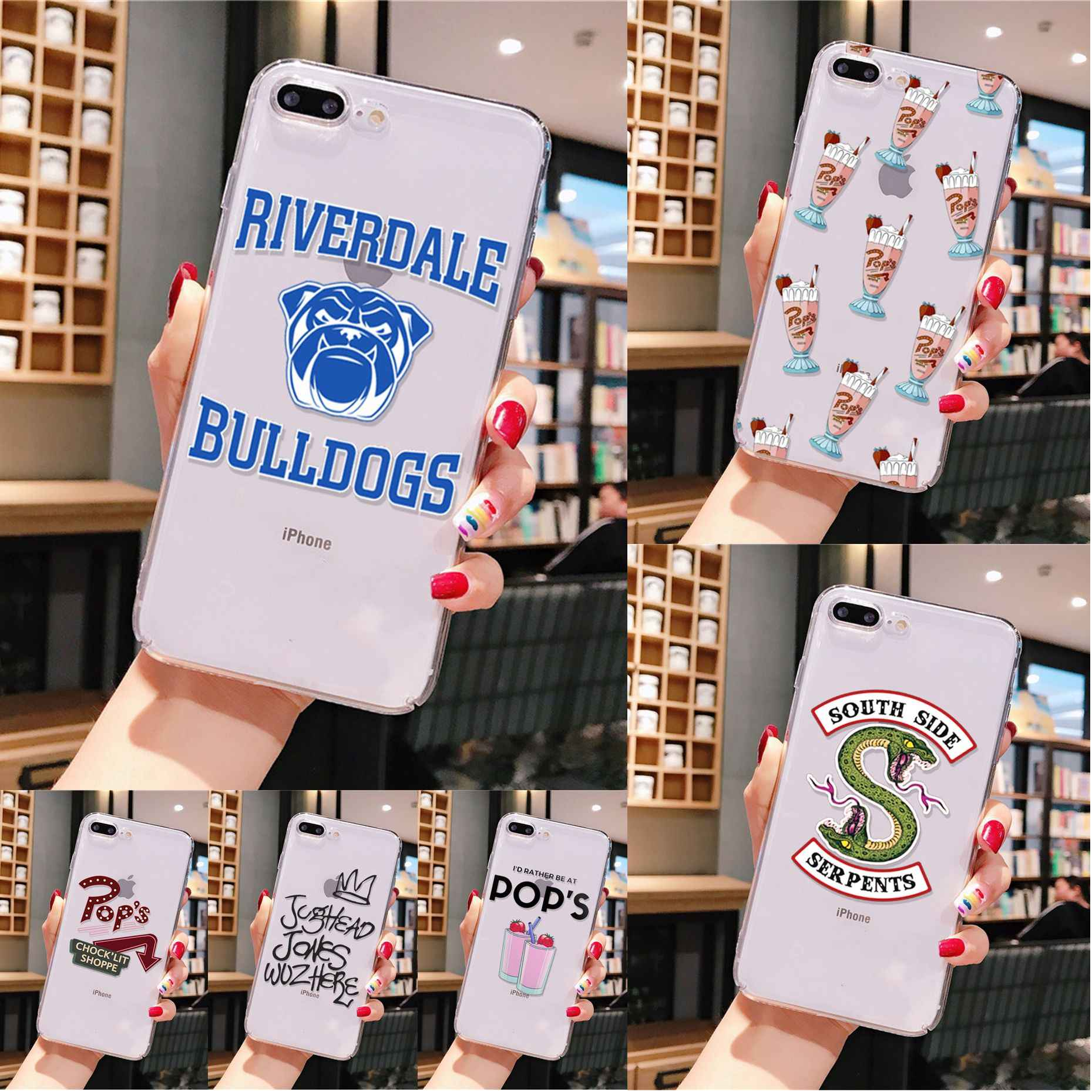 Yinuoda Hot TV Riverdale Pola TPU Soft Phone Cell Phone Case untuk iPhone 8 7 6 6S Plus X XS Max 5 5S SE XR 11 Pro Max