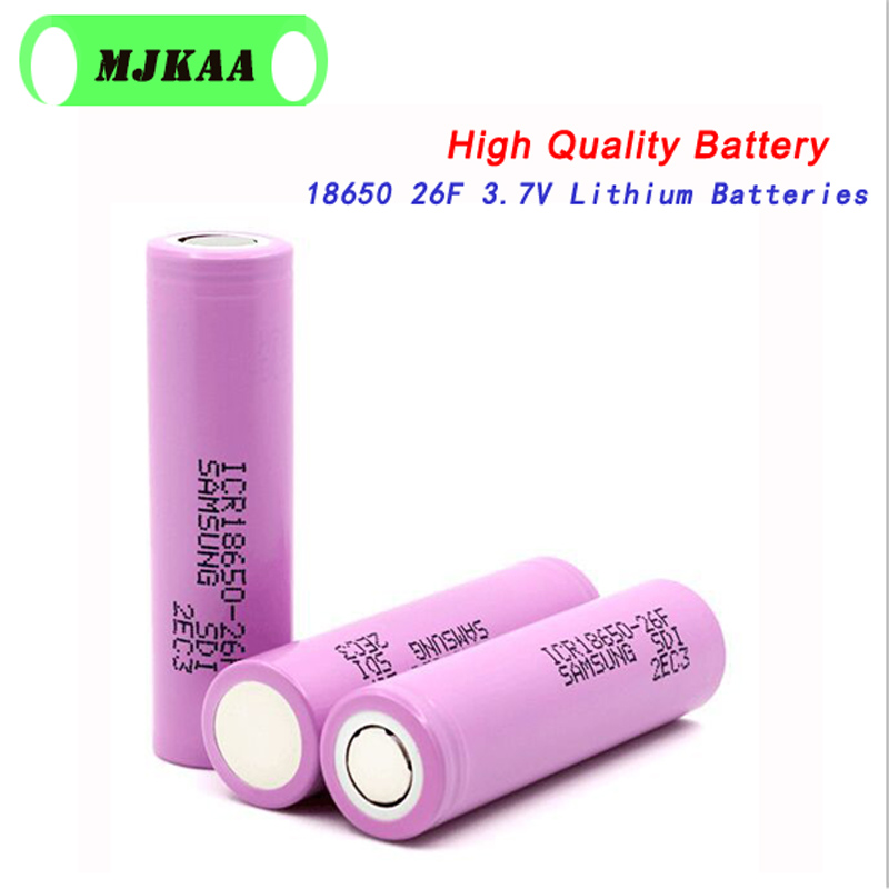 4pcs 100% Original 3.7V 2600mAh For Samsung 26F Rechargeable 18650 Li-ion Battery Real Capacity ICR18650 Batteries image