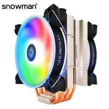 Sneeuwpop 6 Heatpipes Cpu Koeler Rgb 120Mm Pwm 4Pin Voor Intel LGA1200 775 1150 1151 1155 2011 Amd AM3 AM4 Cpu Coolingfan Pc Rustig