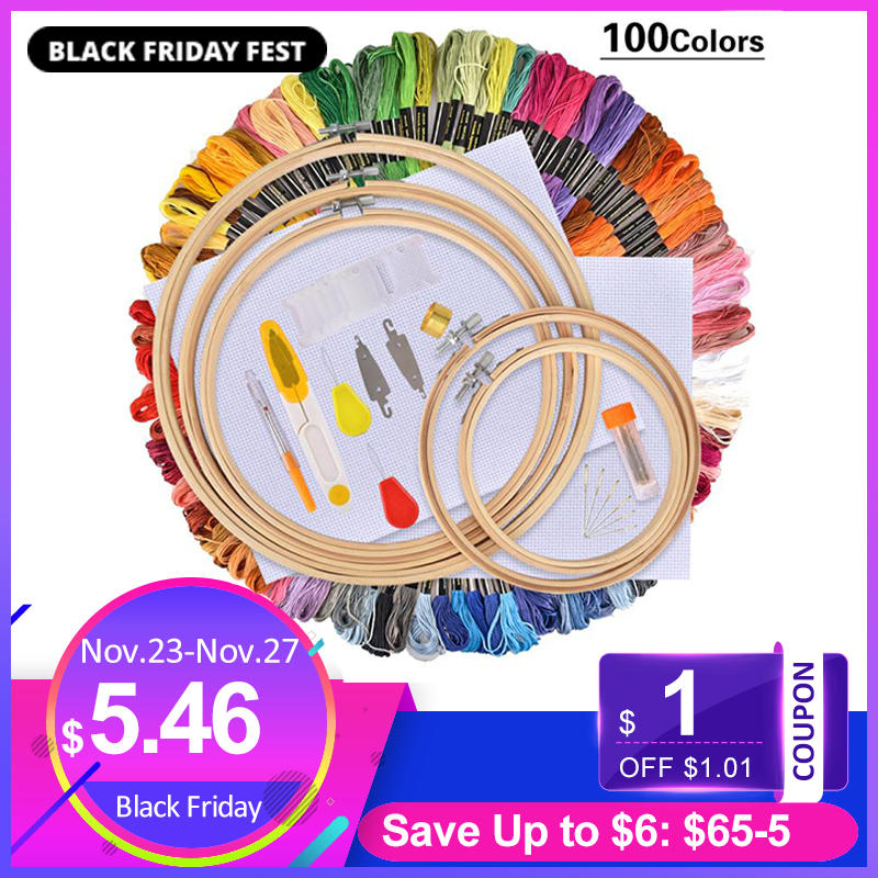 Embroidery Pen Needle-Set Punch-Stitching Sewing-Accessories Knitting-Kit Thread DIY