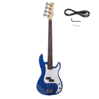Exquisite Burning Fire Style Electric Bass Guitar Black Suitable For Beginners and Novices Home Teaching Dropshipping