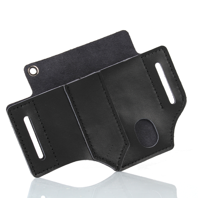 Black EDC Waist Holster Multi-function Portable Storage Leather Goods Tool Storage
