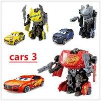 Cars 3 lightning McQueen alloy deformation car model toys robot children car toy boys high quality Hot New 2019