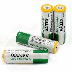 Image 3 - 2 個 new1.2v 単三 3000 mah のバッテリーニッケル水素単三電池監視、マウス、玩具など品質安全バッテリー