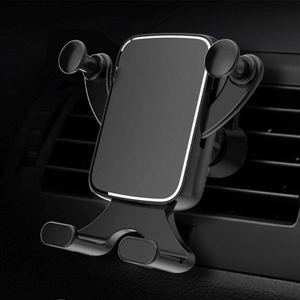 New Luxury Phone Holder stand Horizontal Vertical Screen Car Phone Holder Clamping Car Outlet Gravity Bracket Works on Any Phone