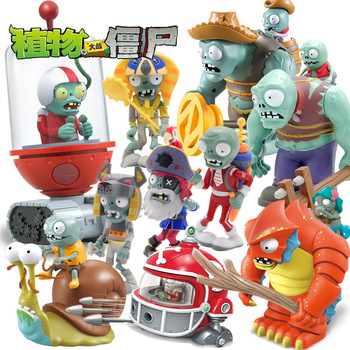 Plants vs. Zombies Children's Toy Accessories Bulk Barricade Iron Bucket Sun God Cowboy Stiff King Doll image