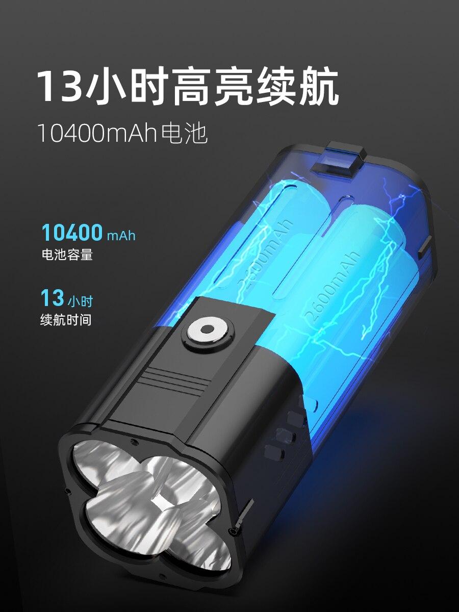 mais poderoso comboio lanterna recarregavel jetbeam portatil iluminacao bi50fl 02