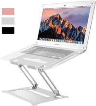 Laptop Notebook Stand Holder, Ergonomic Adjustable Ultrabook Stand Riser Portable with Mouse Pad Compatible Laptop Stand dj стойка magma laptop stand riser silver