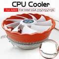 Кулер для процессора 12 В гидравлический подшипник радиатора RGB Вентилятор компьютера ПК корпус радиатор охлаждения для Intel LGA 775 1150 1155 1156 AMD1150