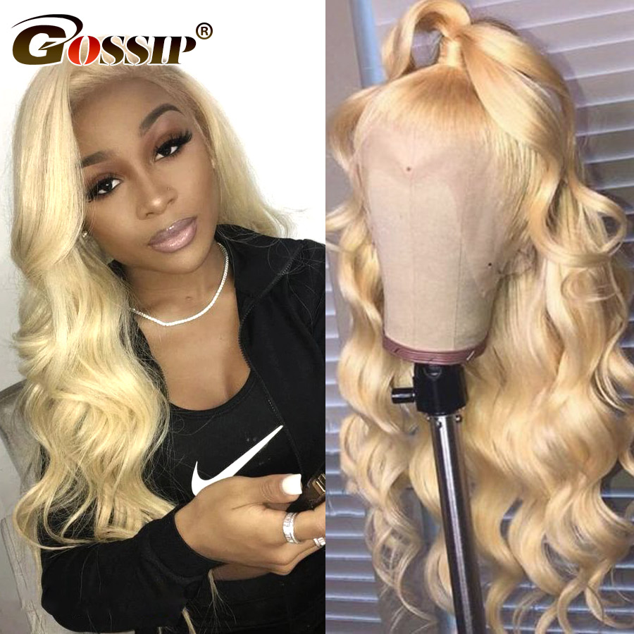 Brazilian Body Wave Lace Front Human Hair Wigs Remy Hair 613 Blonde Lace Front Wig Gossip 150% Lace Front Wig Per Plucked (2)