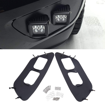 Front Hidden Bumper Fog lamp Mounting Brackets Fit Chevrolet Colorado 2015-2019 and GMC Canyon 2015-2019