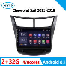 "car Radio for Chevrolet SAil 2G 32G 2015 2016 2017 2018 Vehicle Multimedia Video System SWC TV WiFi Android 8.1 9"" no 2 din(China)"