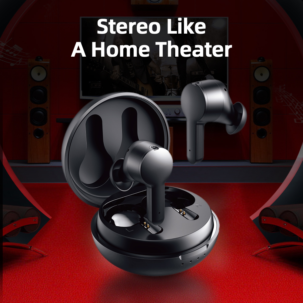 Joyroom TA1 Active Noise Cancelling TWS 3D Stereo Wireless Earphone Earbuds ANC On/ Off Mode 35dB ANC Gaming Bluetooth Earphone