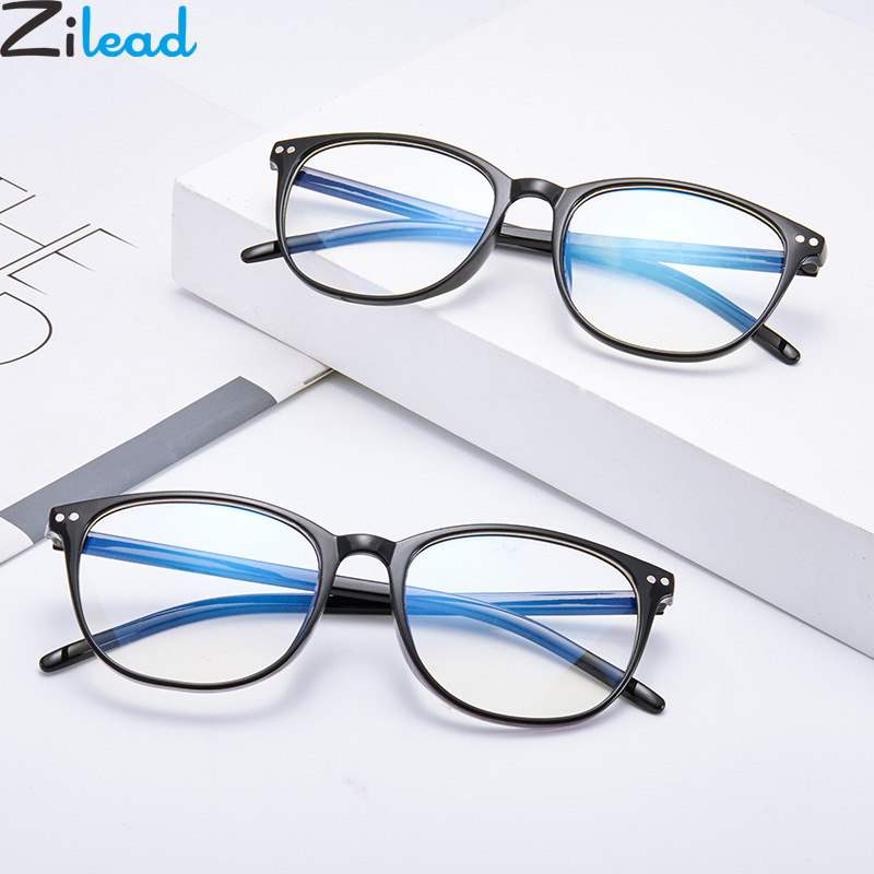 Zilead Anti Blue Light Finished Myopia Glasses Transparent Lens Nearsighted Eyeglasses Shortsighted Eyewear For Men Women Unisex