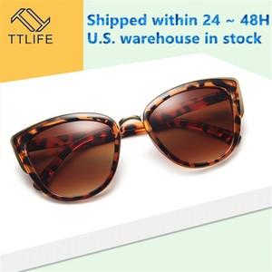 TTLIFE Vintage Cat Eye Sunglasses Women