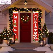 Merry Christmas Decorations For Home Door Banner 2019 Hanging Gift Ornaments  Navidad Noel