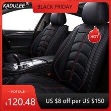 KADULEE housses de siège de voiture en cuir, couvre siège de voiture, pour Ford Focus 2 3 Fushion Ranger mondeo Fiesta Edge Explore Kuga