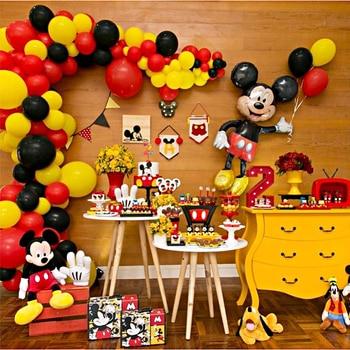 Decoración Para fiesta de Mickey Mouse, fiesta de bienvenida para el futuro bebé niños, suministros para fiesta de cumpleaños, decoración para pastel de Mickey Minnie