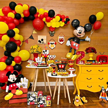Mickey Mouse Party Decoration  Baby Shower Kids Birthday Disposable Supplies Minnie Cake Decor