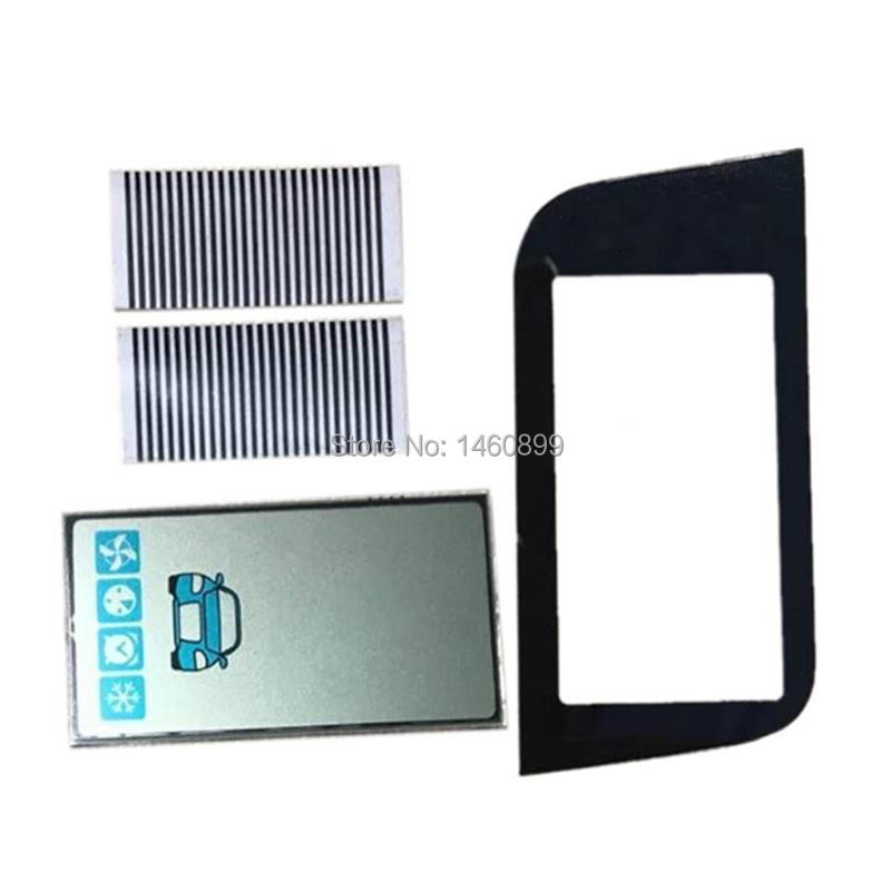 Vertical A93 GSM LCD Display Zebra Paper + Keychain Case Glass For Starline A93 Lcd Remote Control Key Display Zebra Stripes
