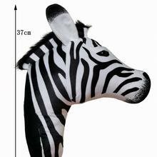 2021 Zebra head Hot sale plush Stuffed animals home wall decoration toy