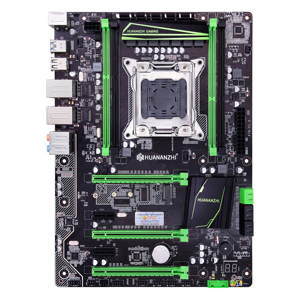 WUSON recommend HUANANZHI X79 Plus motherboard with M.2 SSD slot discount motherboard with dual LAN ports 2 SATA3.0 3*PCI-E x16