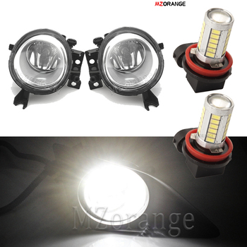 цена на LED Fog Lights For VW Touareg 2002-2010 for Volkswagen Halogen Front Fog Lamps headlights DRL  foglights With Wire Bulbs