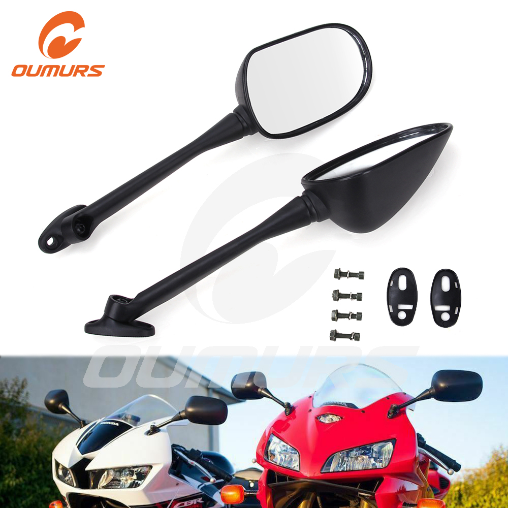 OUMURS Motorcycle Rearview Side <font><b>Mirror</b></font> For <font><b>Honda</b></font> <font><b>CBR</b></font> 125 <font><b>250</b></font> 300 500R 2004-2017 For Suzuki GSXR600 750 CBR1100 1996-2017 image