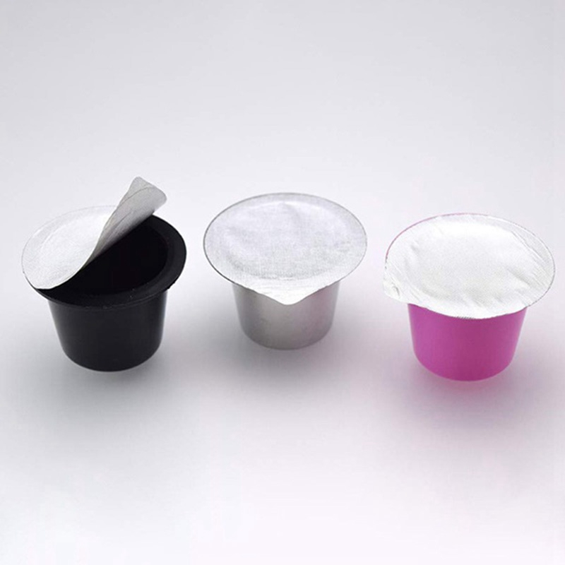 Aluminum Foil Brewer Lid Aluminum Espresso Lids Foils Seals To Reusable Capsules Coffee Pod Compatible for Nespresso Not Compati   - title=