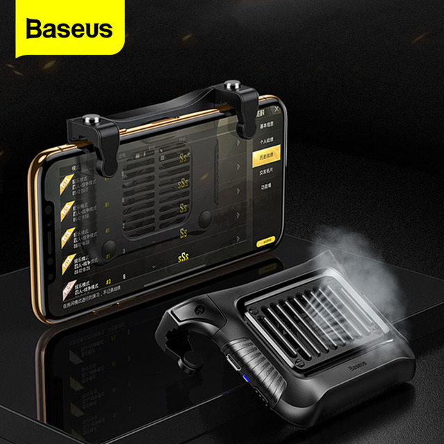 Baseus Gamepad Joystick Game Trigger For PUBG L1RL Gaming Shooter Fire Button Phone Cooler For iPhone Andriod Mobile Controller