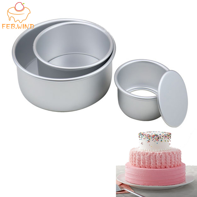 3 Tiered Round Cake Mold Set Aluminum Alloy Cake Pan Set Non Stick Baking Pans 4/6/8 inch Cakes Mould Removable Bottom       386